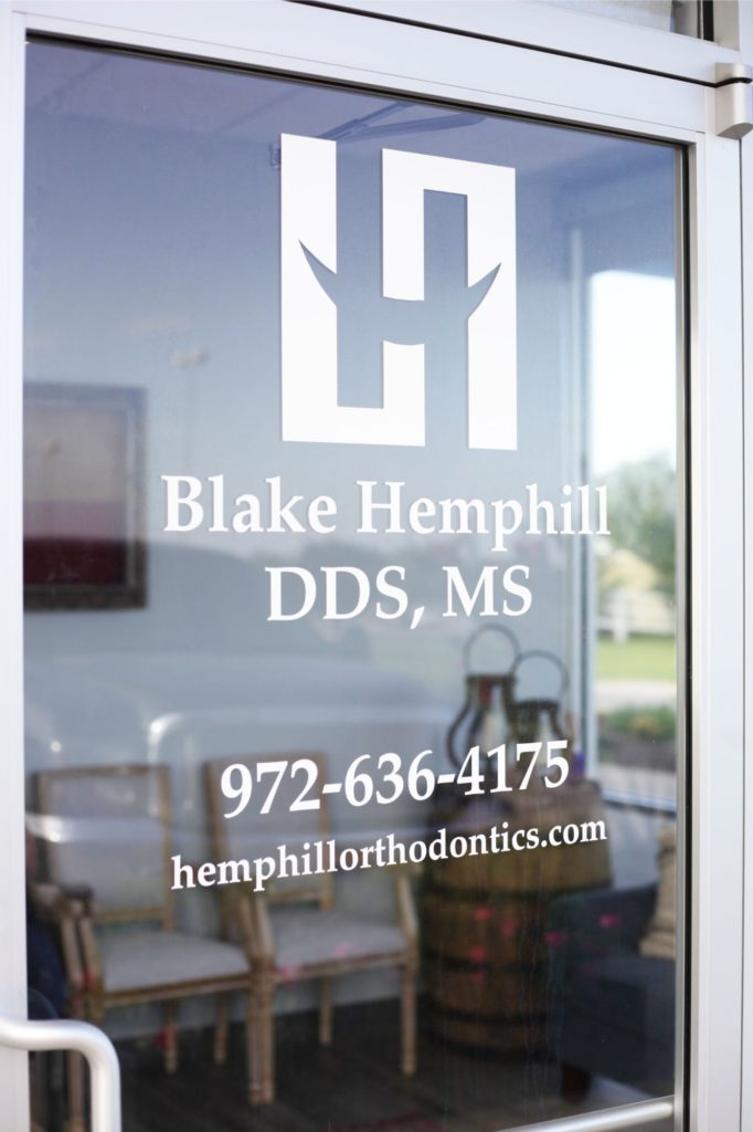Hemphill Orthodontics front door